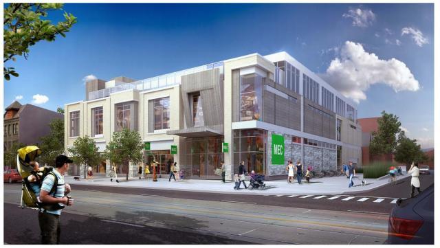 (New Toronto Queen Street Store. Rendering: MEC)