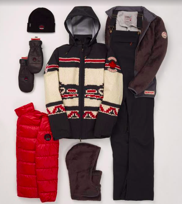 (Burton outerwear that will be worn by riders on the Canadian freestyle team at the Olympic Games in PyeongChang this February)