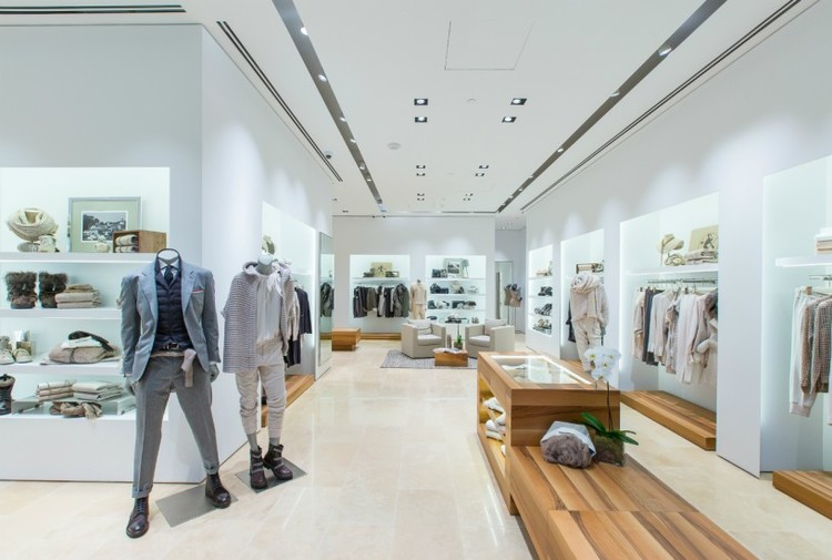 (Above and below: Photos of Brunello Cucinelli's vancouver store. Photos: Brunello Cucinelli)