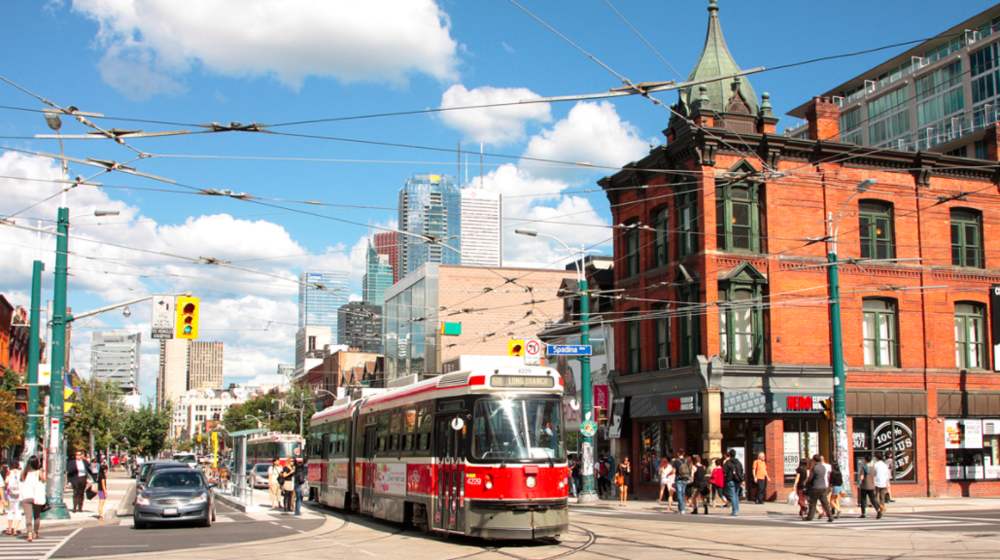 (Queen St. W. in Toronto. Photo:  Transit Toronto )