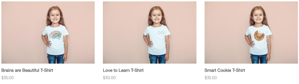 (T-Shirts available from La Petite Écolière's Website)