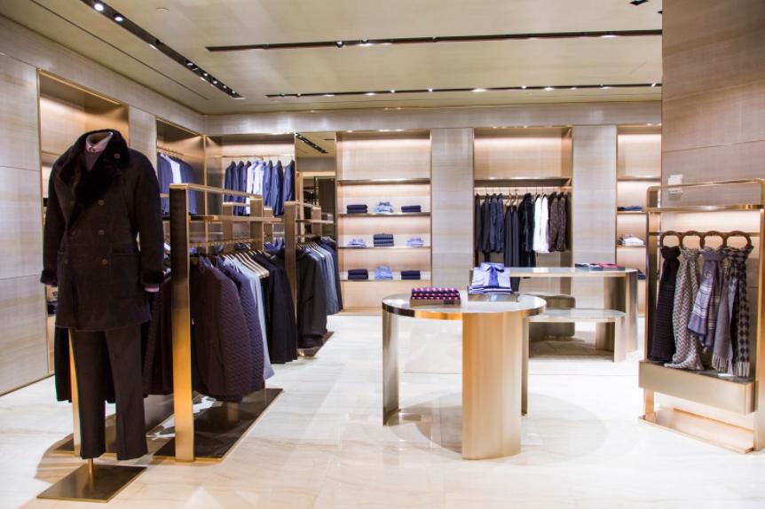(Inside the Giorgio Armani Boutique)
