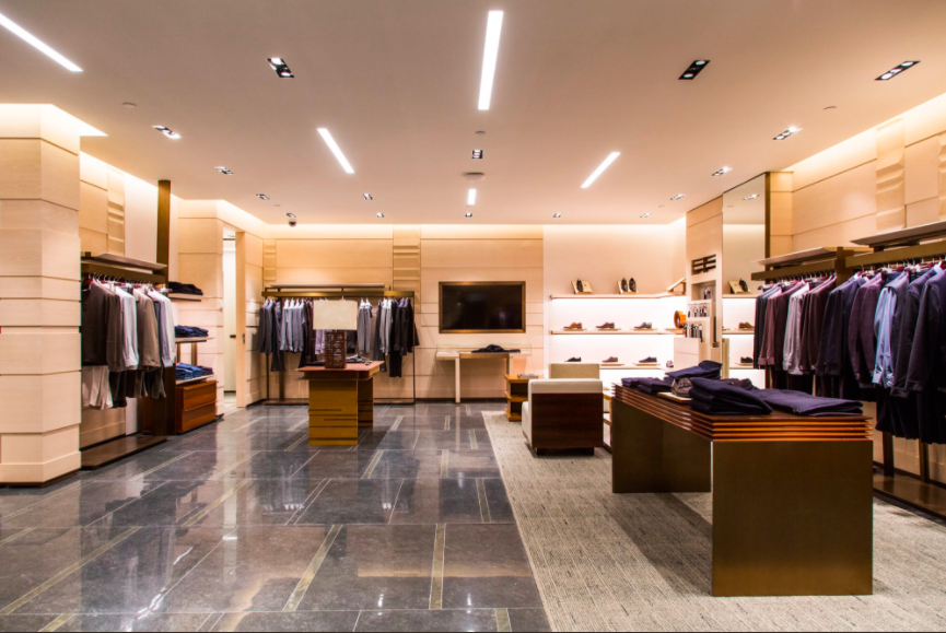 (Inside the new Zegna boutique)