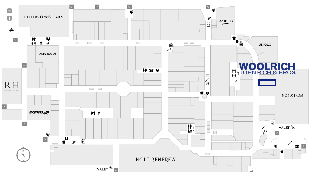 (Click for interactive Yorkdale Mall Map)