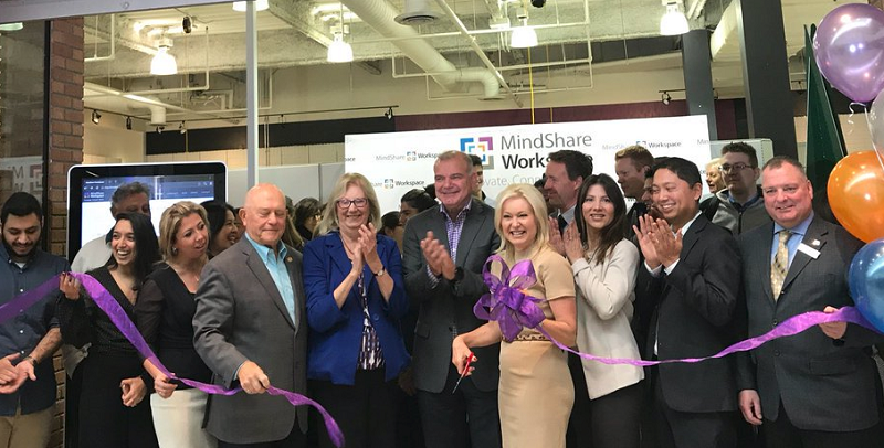 Official Opening & Ribbon Cutting with Mayor Bonnie Crombie, partners & sponsors. PHoto: MindShare WorkSpace Twitter
