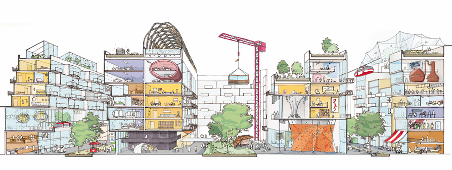(Sidewalk's Mixed-Use Vision for the Quayside area, image courtesy of Sidewalk Toronto)