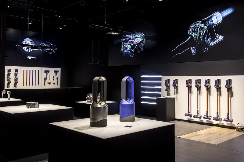 dyson unveils 1st canadian retail space photos. Black Bedroom Furniture Sets. Home Design Ideas