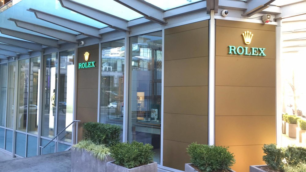 (Rolex's largest store in the Western Hemisphere is located at 1119 Alberni Street -- and it's expanding to become even larger. Photo: Lee Rivett)