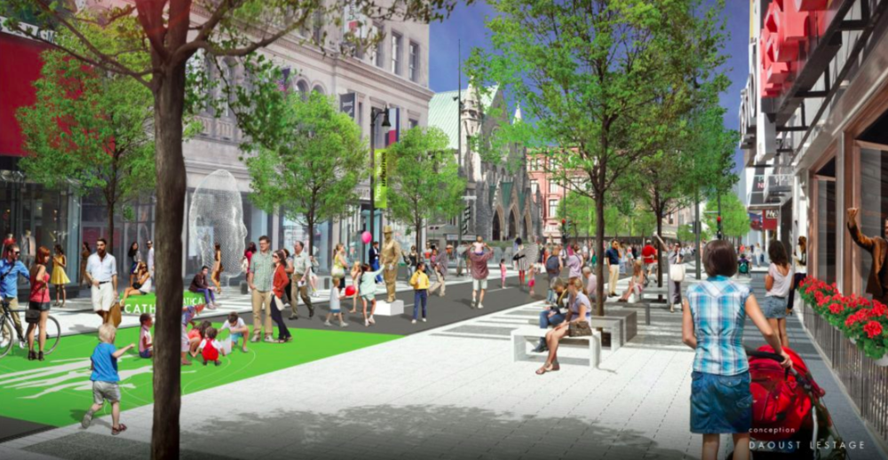 (Montreal's Sainte-Catherine St. W. will look different by the year 2020. Photo: City of Montreal)