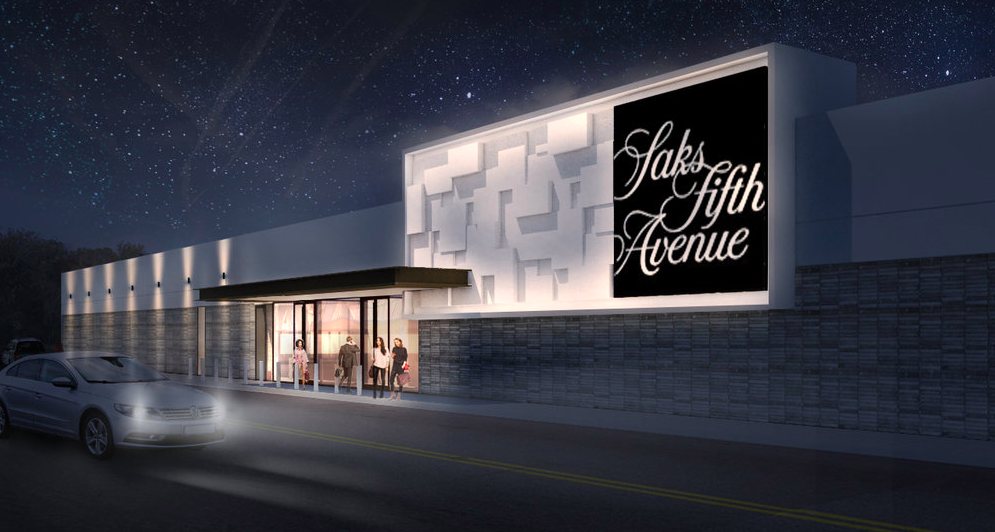 (Rendering of the CF Chinook Centre Saks Fifth Avenue Store, opening February 22, 2018.  Craig Nealy/Stantec)