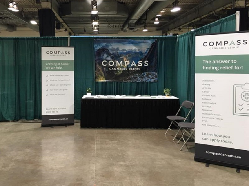 Compass Cannabis at hemp fest expo (September 2017). Photo: Compass Cannabis Facebook