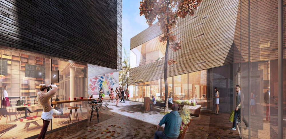 (A Central courtyard at the heart of 'The Mews' will be animated with various uses throughout the year)