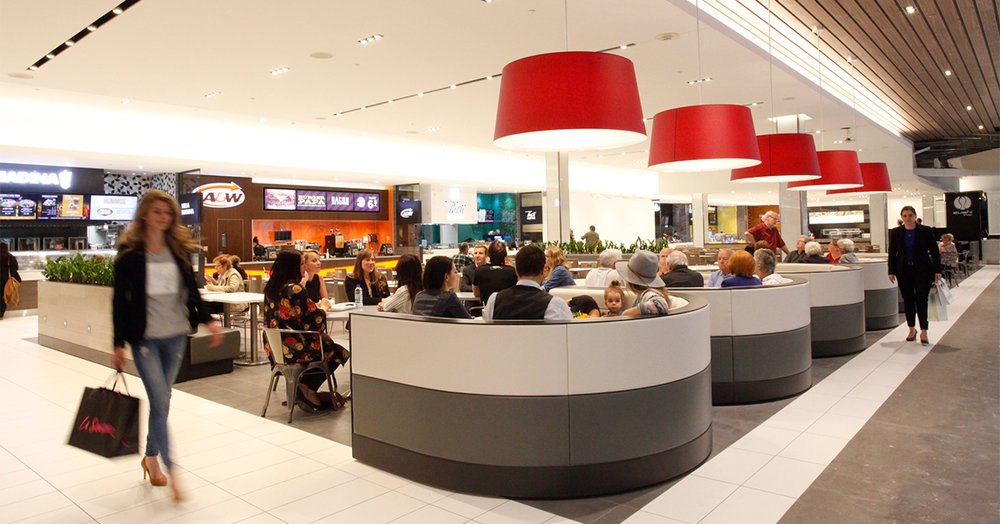 (The mall's food court, named 'Espace gourmet', saw a renovation in 2015 that resulted in its becoming one of the most productive food courts in the country. Photo: Oxford PRoperties)