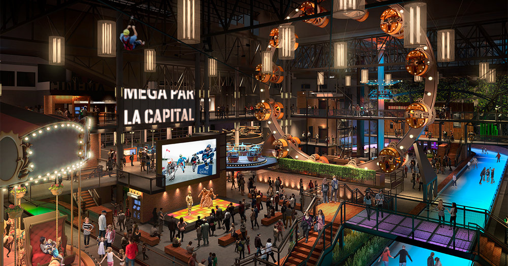 (The mall's  Méga Parc amusement park  will reopen towards the end of this year, with a 'steampunk' theme)