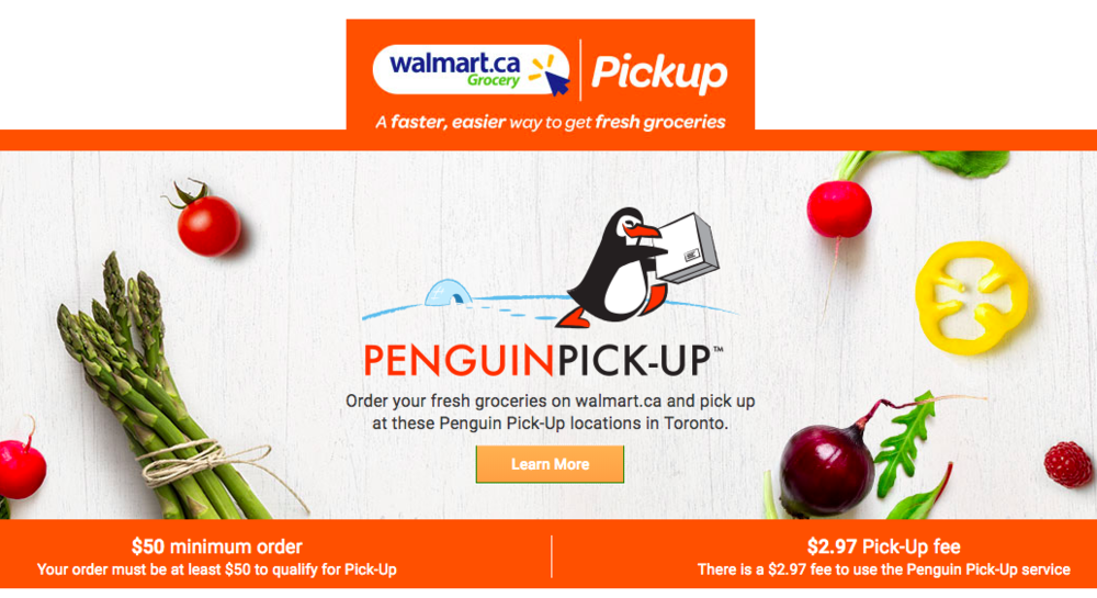(Above and below: Screen shots from the Walmart Canada/Penguin Pick-up website)