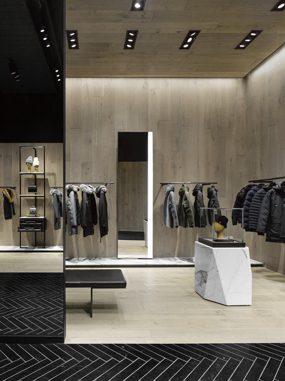 (Mackage Store: Burdifilek won a significant award for its design last year.   Photo:   Ben Rahn, A-Frame Studio)