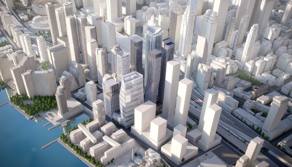 (The area around Union Station is seeing an incredible amount of development -- and some proposed towers will be even taller than as represented in this scale model. Photo: City of Toronto)