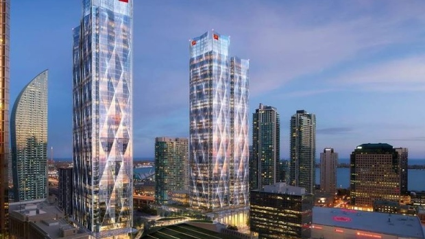 (CIBC Square will bring thousands of new workers into the core. Rendering: Ivanhoé Cambridge)