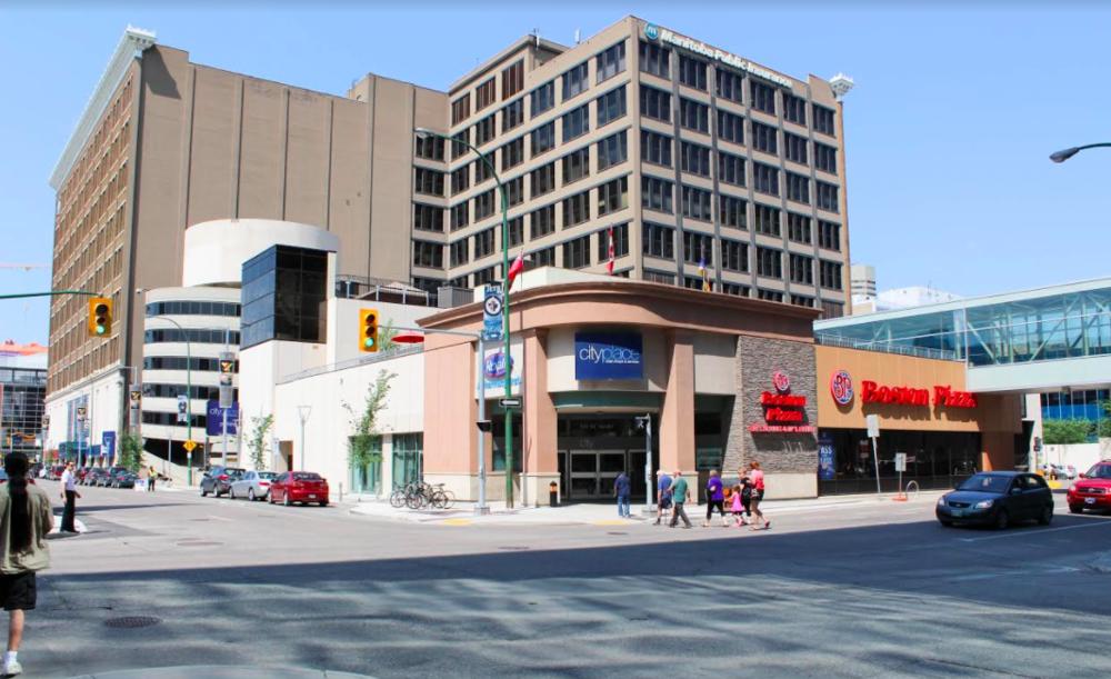 (City Place, Winnipeg. Photo: Triovest)