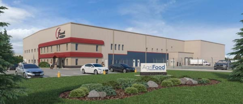 rendering of the Agri-Food Innovation Centre. Photo: Saskatchewan Food Industry Development Centre Inc.