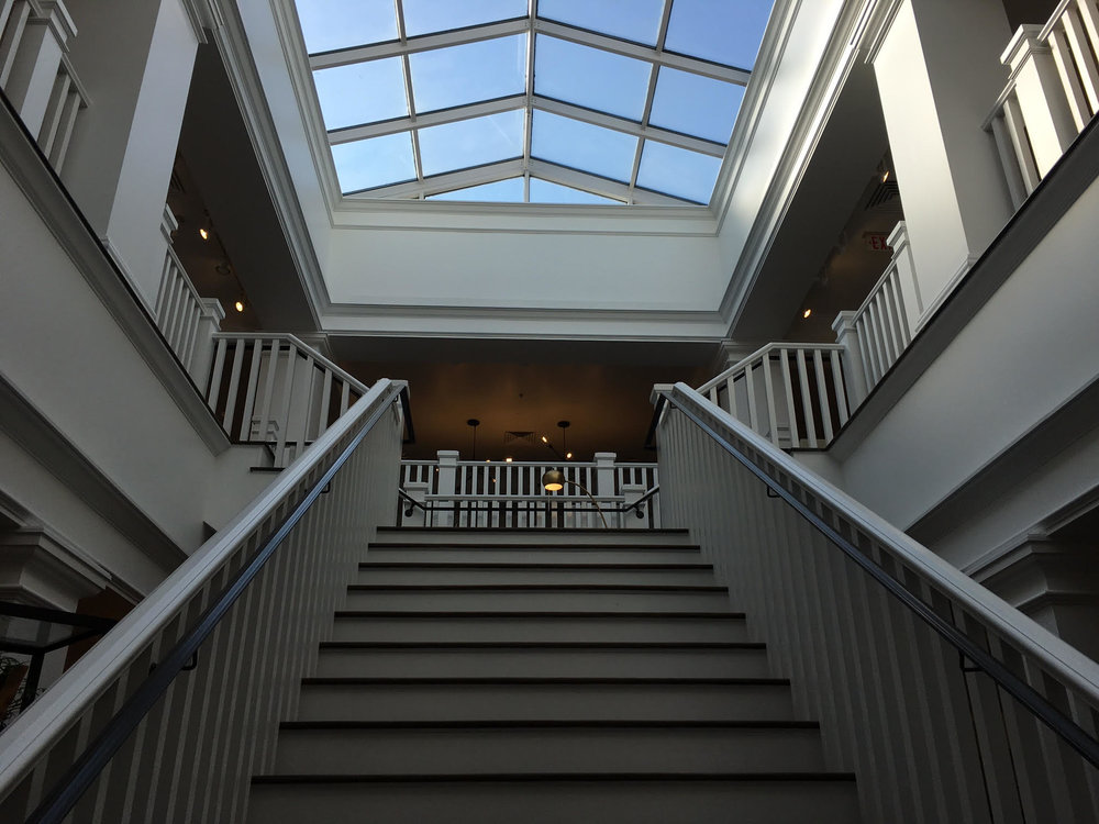 (Looking upstairs to the second level)