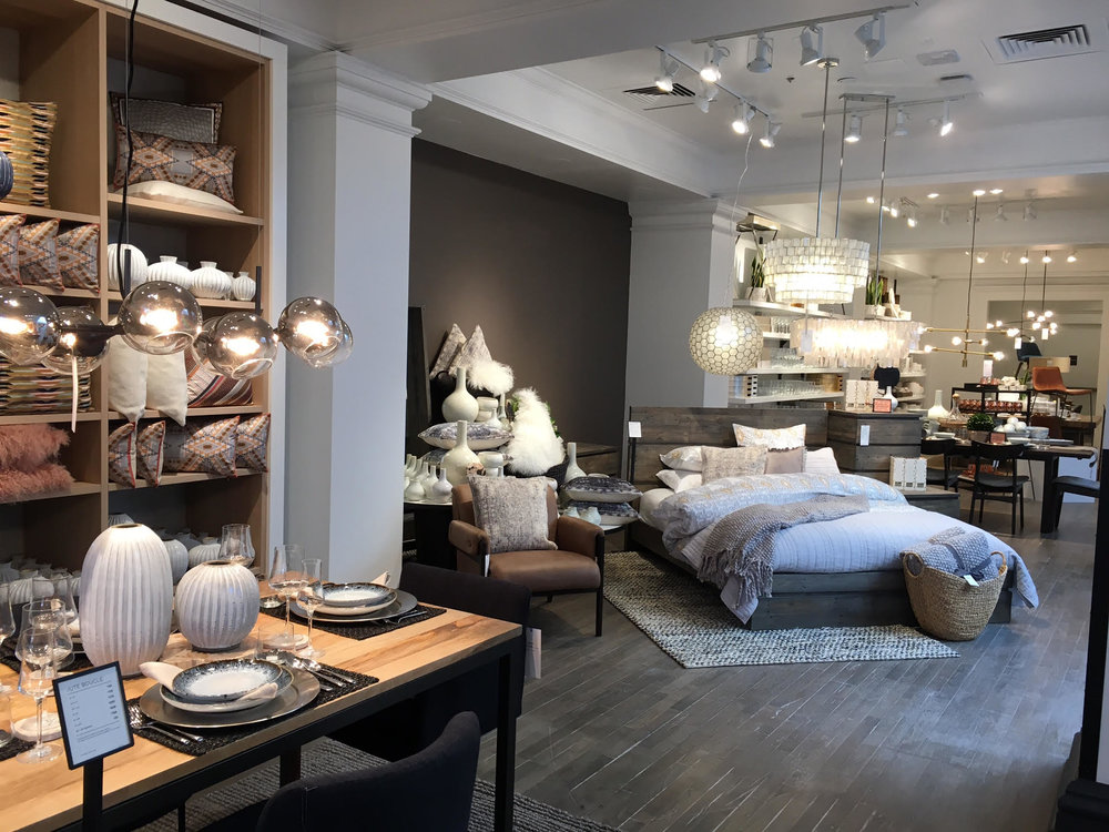 The store is West Elm's sixth in Canada, and second in Toronto, and includes several unique features not found in its other locations. The two-level, 16, square foot store is located at Yonge Street, about two blocks north of the busy Yonge-Eglinton intersection.