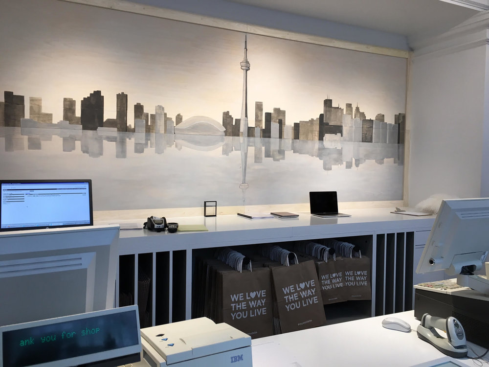 (Cash-wrap at the new Toronto store)