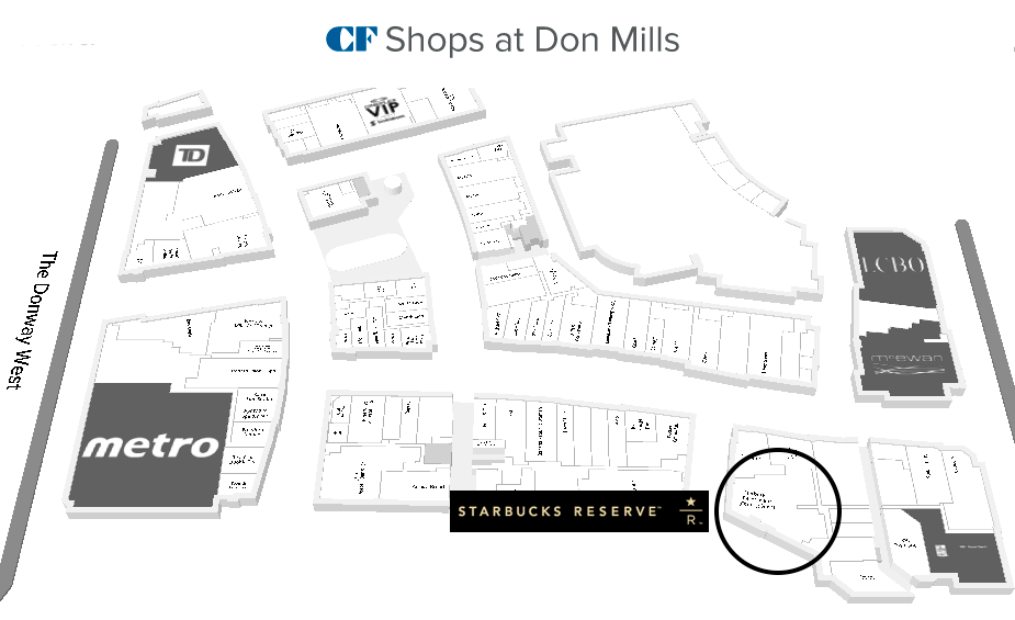 (Click for interactive CF Shops at Don Mills floor plan)