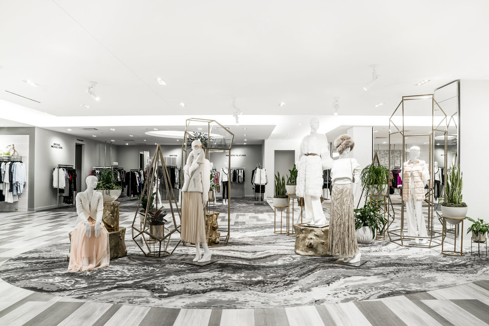 (Women's designer Department on 2 -- Toronto's Saks Stores have similar carpeting.   Photo: Saks Fifth Avenue)