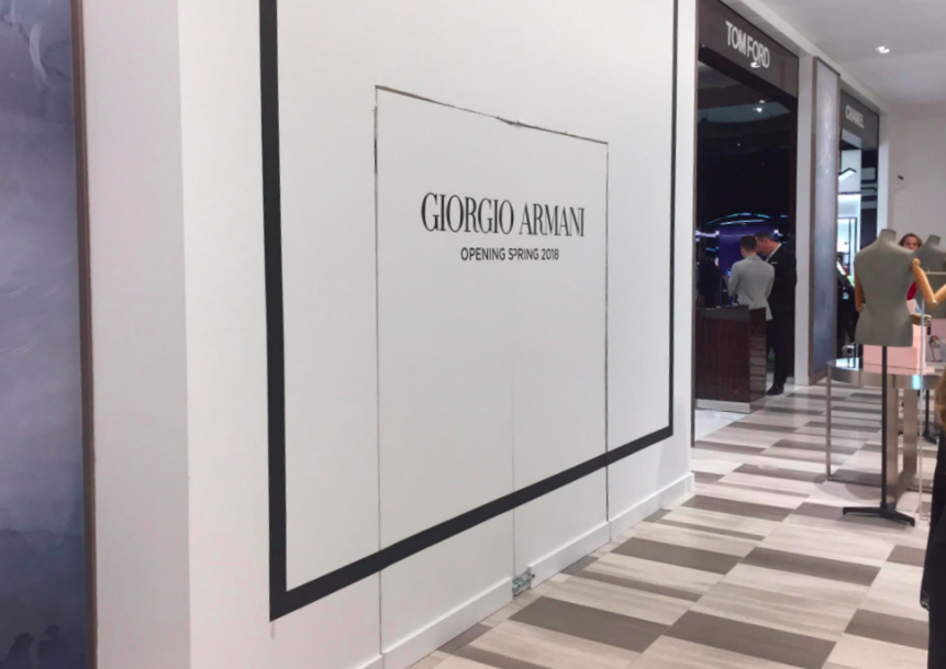 (Opening soon: a first-in-the-world concept Giorgio Armani cosmetic boutique. Photo: Chris Kambouroff