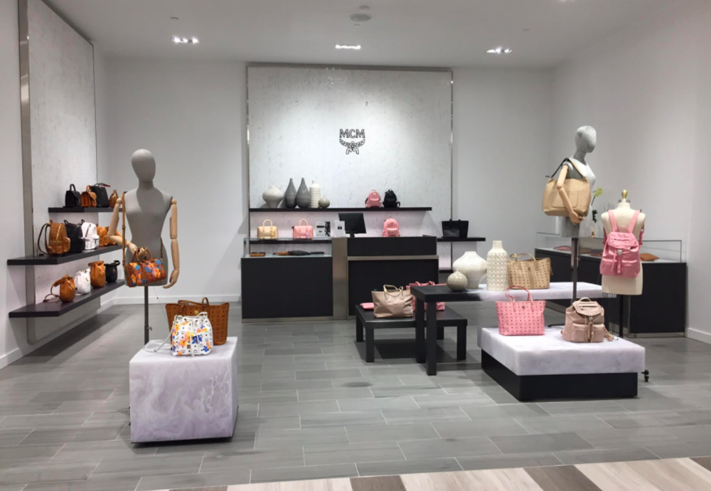 (McM Accessory Boutique -- one of several 'soft shops' that could be re-branded if a paricular brand doesn't sell in the store. Saks' Toronto stores feature 'hard shops' created specifically for selected brands. Photo: Chris Kambouroff