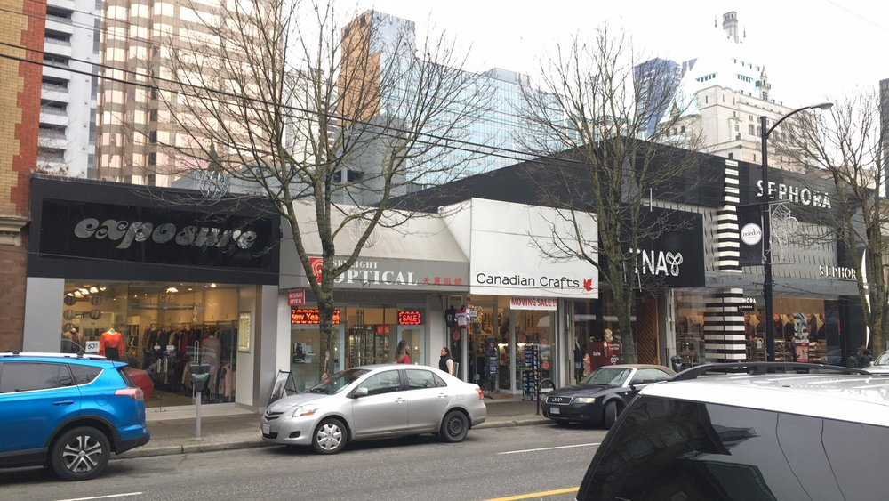 (Current 1067 Robson Street configuration. Photo: Lee Rivett)