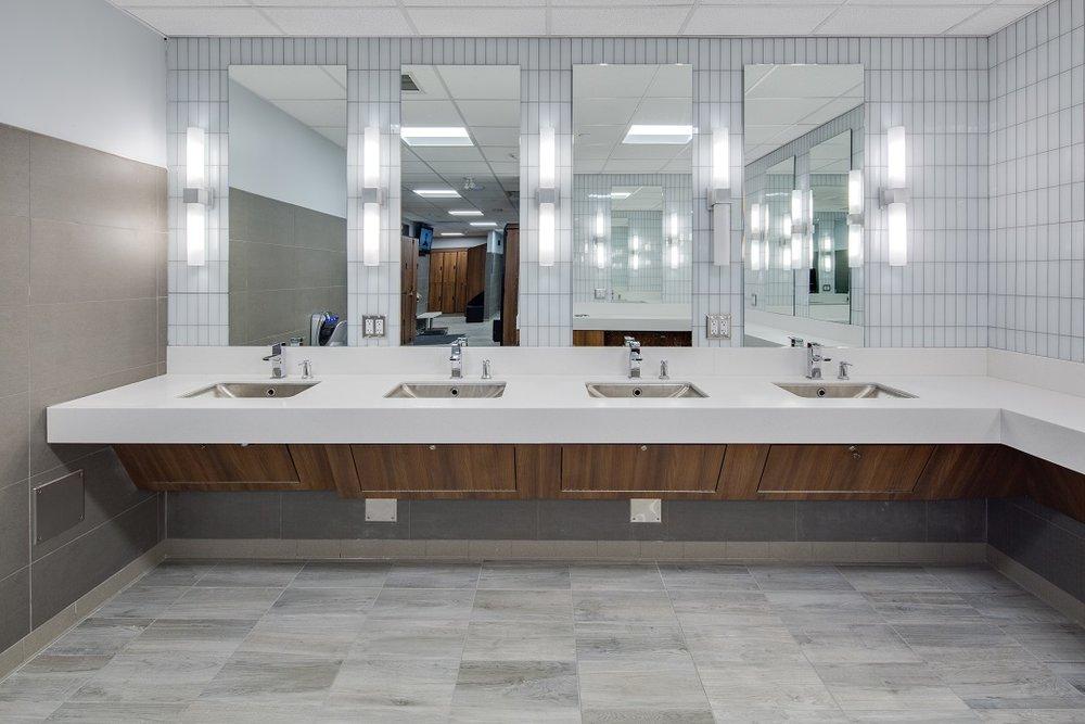 Bathroom vanity by  Peregrine Retail Design Manufacturing