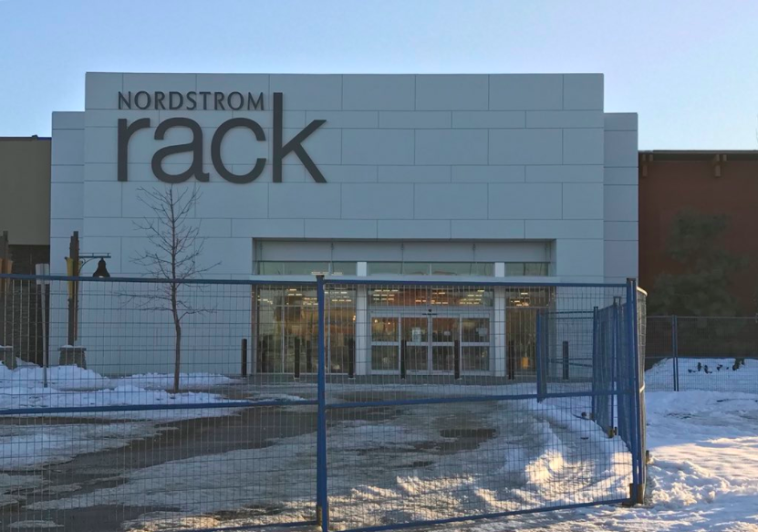 (Under Construction: Calgary Deerfoot Meadows Nordstrom Rack store, opening April 26, 2018. Photo by Adam)