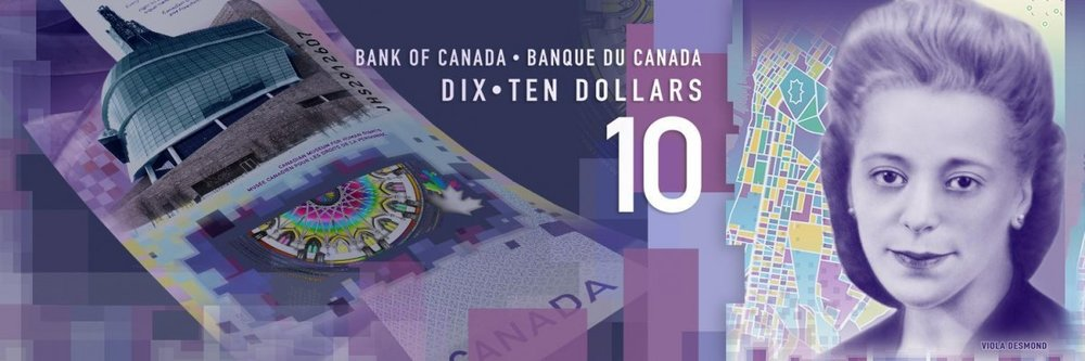The bold security features on the vertical $10 note are easy to check and difficult to counterfeit .