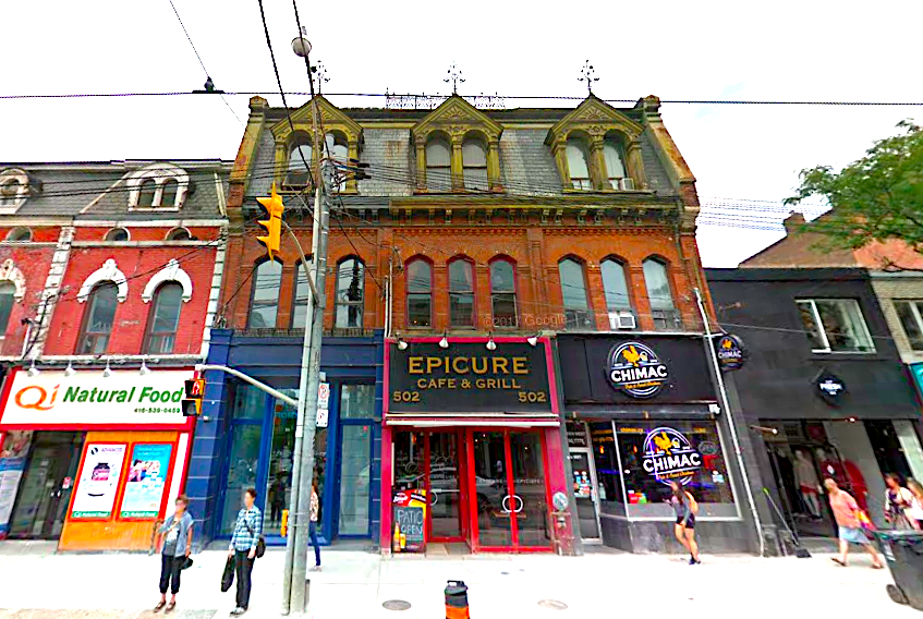 Cauldron will replace the 'Epicure cafe & Grill' at 502 Queen Street West. Photo: Google Street View.