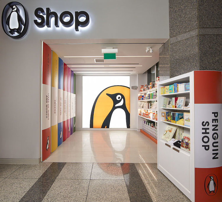 ['Penguin shop' on the street level at 320 Front st. W. in Toronto]