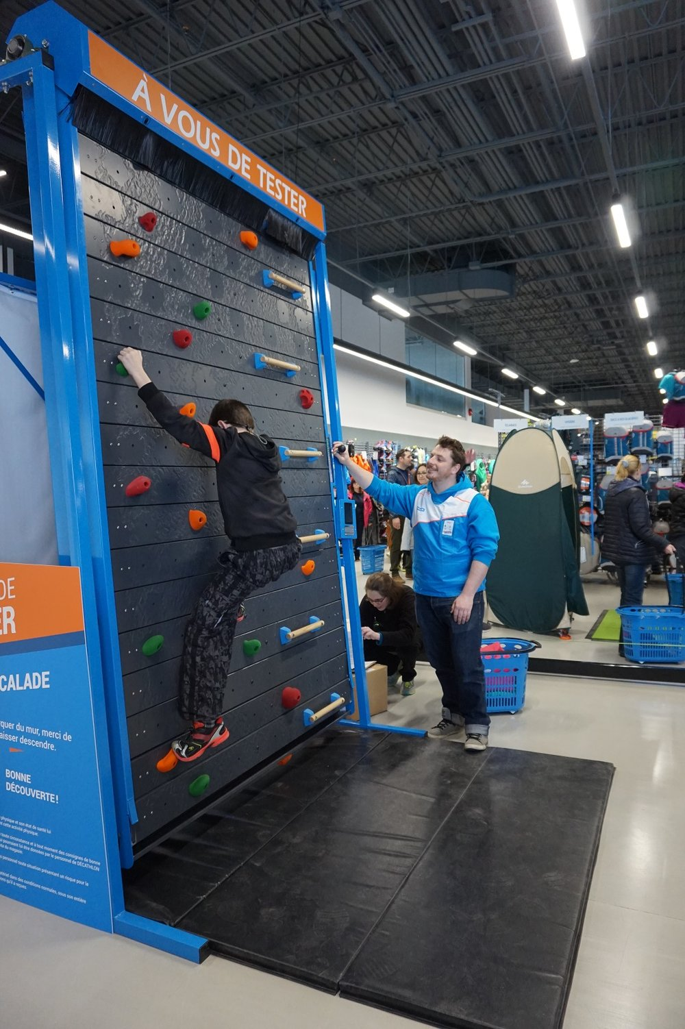 Climbing wall. Photo: Decathlon