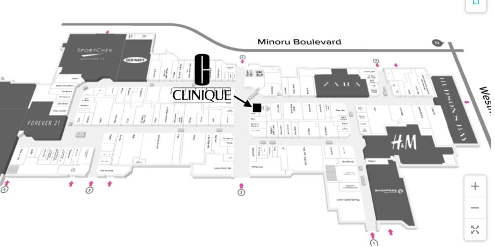 click for interactive CF Richmond Centre mall Floor Plan