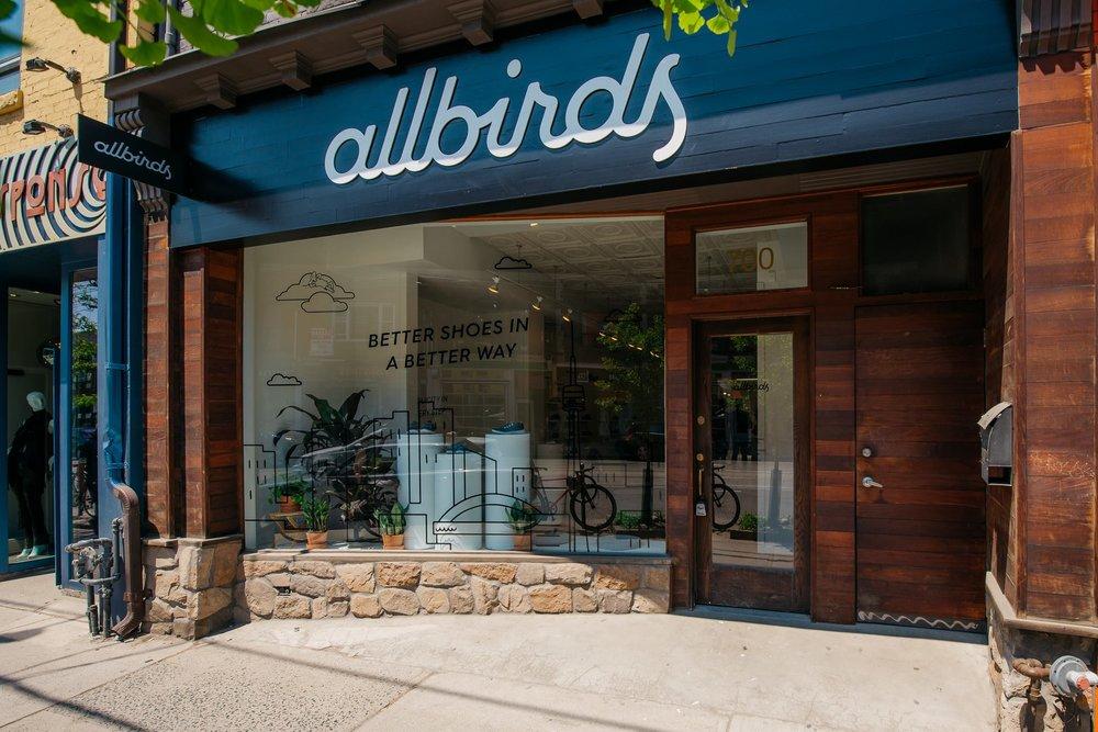 Storefront. Photo: Allbirds