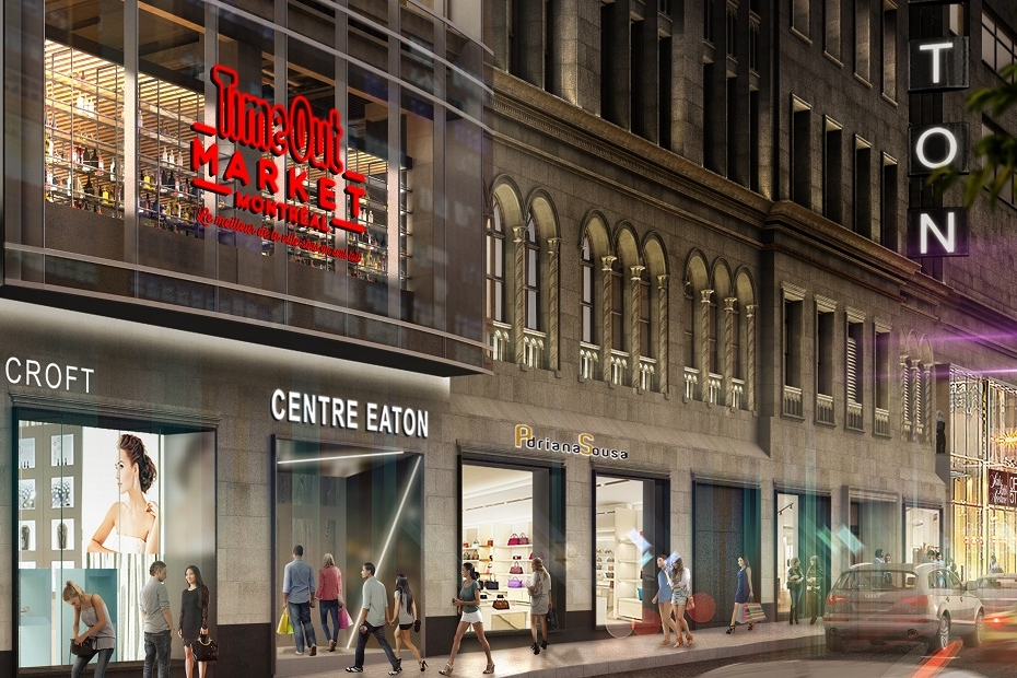 Ste-Catherine Street facade. Rendering: Time Out/Ivanhoé Cambridge.