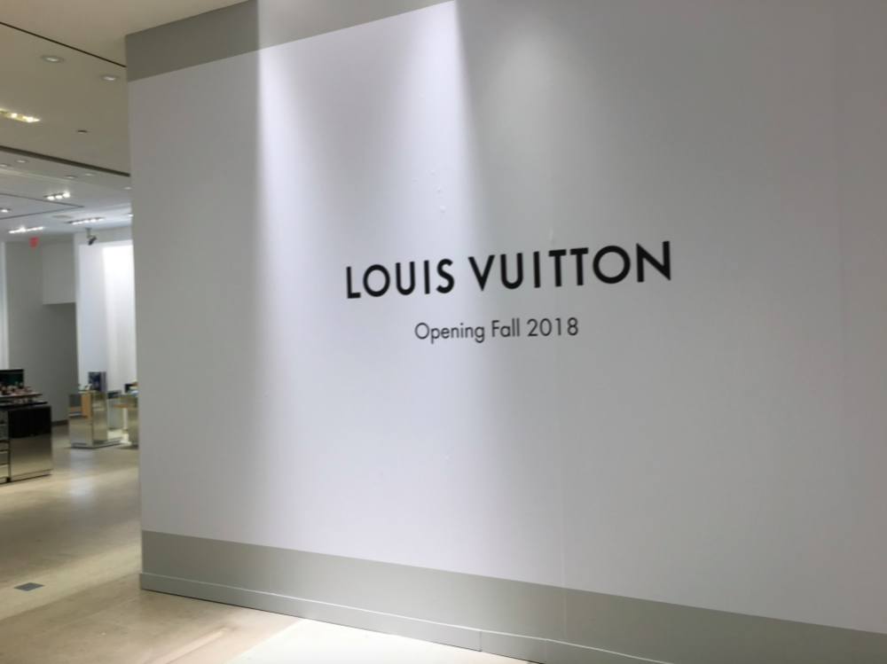 Under construction: A new Louis Vuitton boutique on the store's ground floor