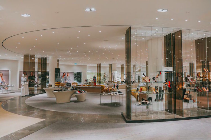 Impressive footwear hall at Holt Renfrew in Vancouver. Photo: Holt Renfrew