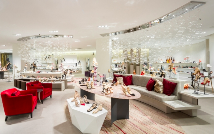 WOMEN'S 10022-SHOE SALON ON 2, at Saks in Toronto. Image VIA SAKS