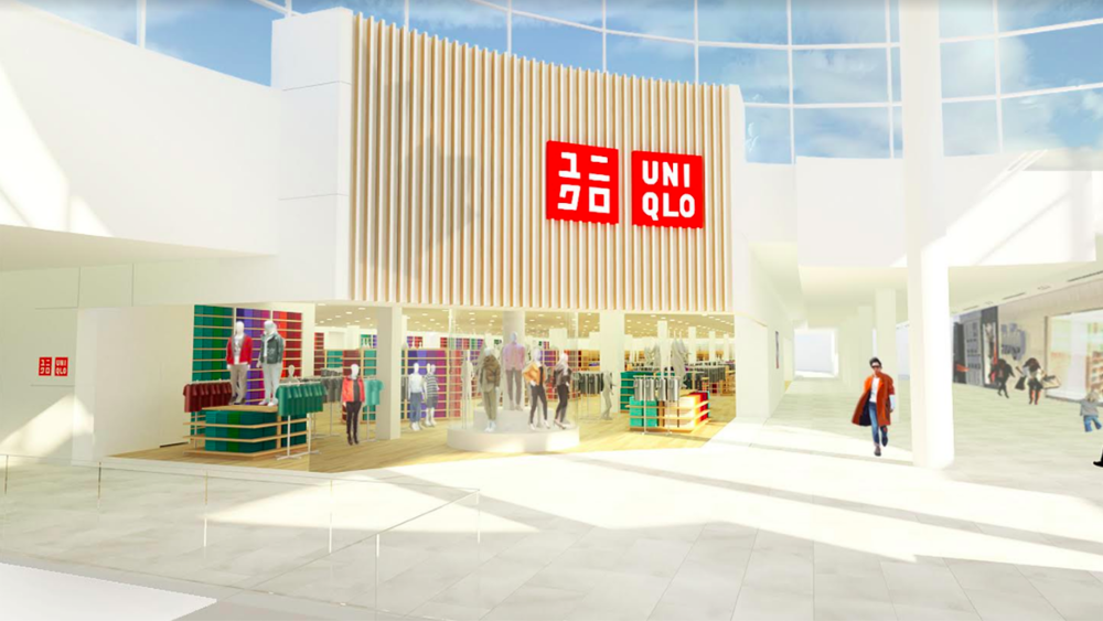 Rendering of the new Square One Uniqlo, via uniqlo/bicom