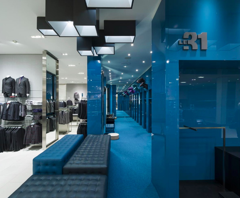 Above and Below: Galeries d'Anjou Simons store in Montreal. Photo: Marc Cramer