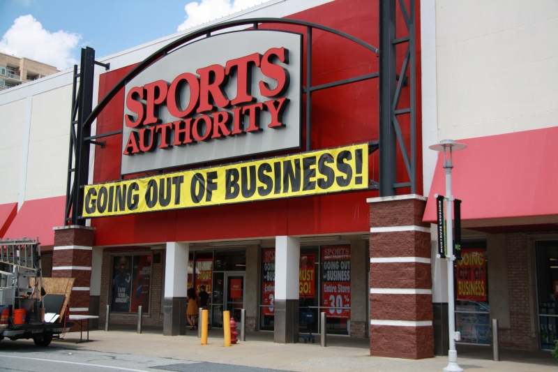 Sports Authority at Montrose Crossing. Photo:  Bethesda Magazine/Andrew Metcalf