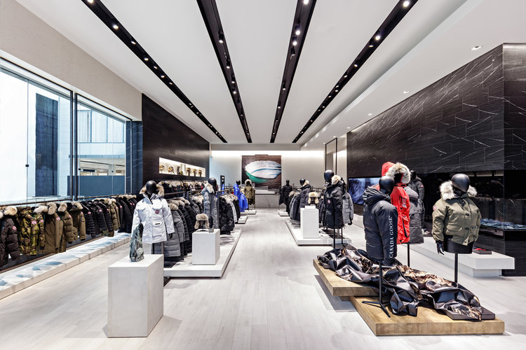 Inside the Yorkdale Canada Goose Store. Photo: Canada Goose