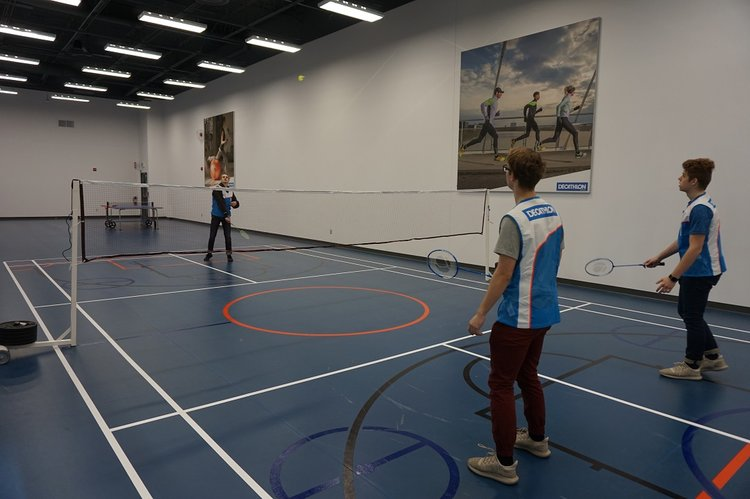 Decathlon Badminton Room. PHOTO: DECATHLON
