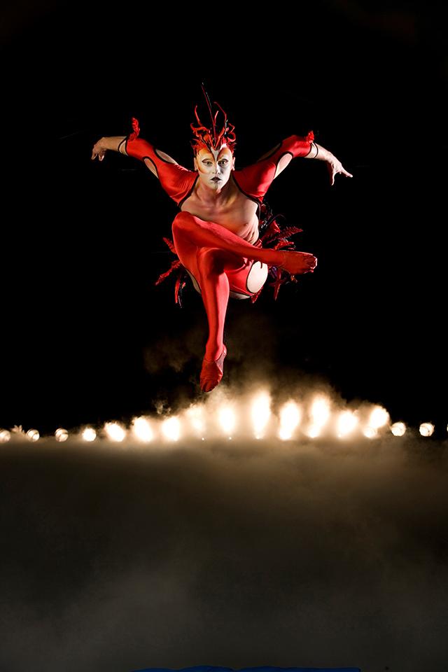 Red Bird from Mystère. Photo: Cirque du Soleil/Richard Termine